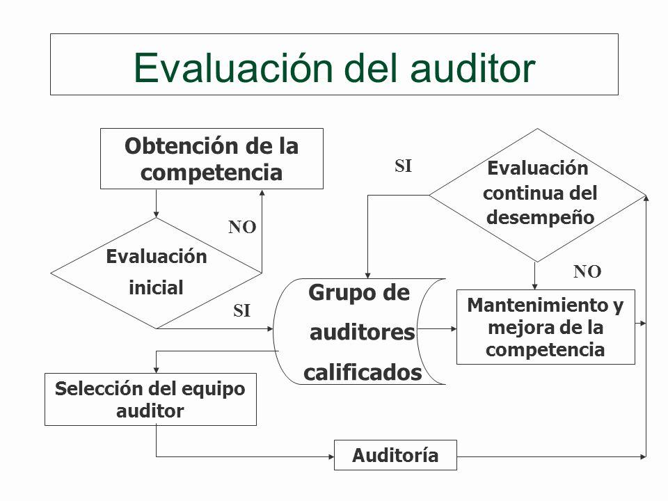 Evaluación del auditor