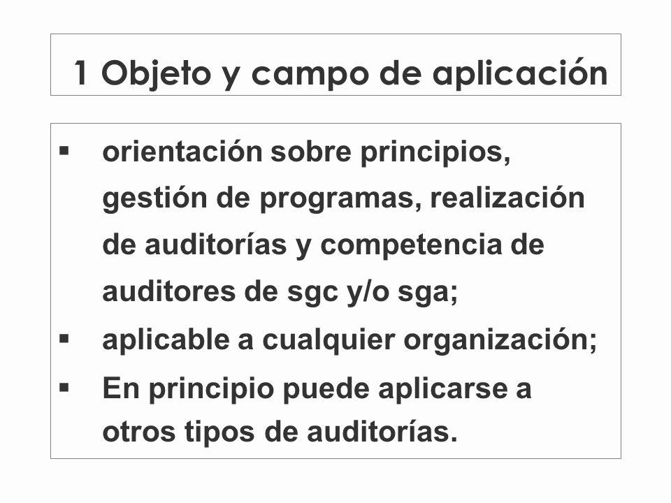 1 Objeto y campo de aplicación
