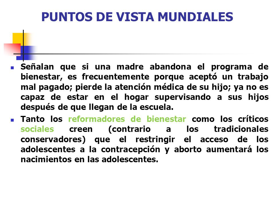 PUNTOS DE VISTA MUNDIALES