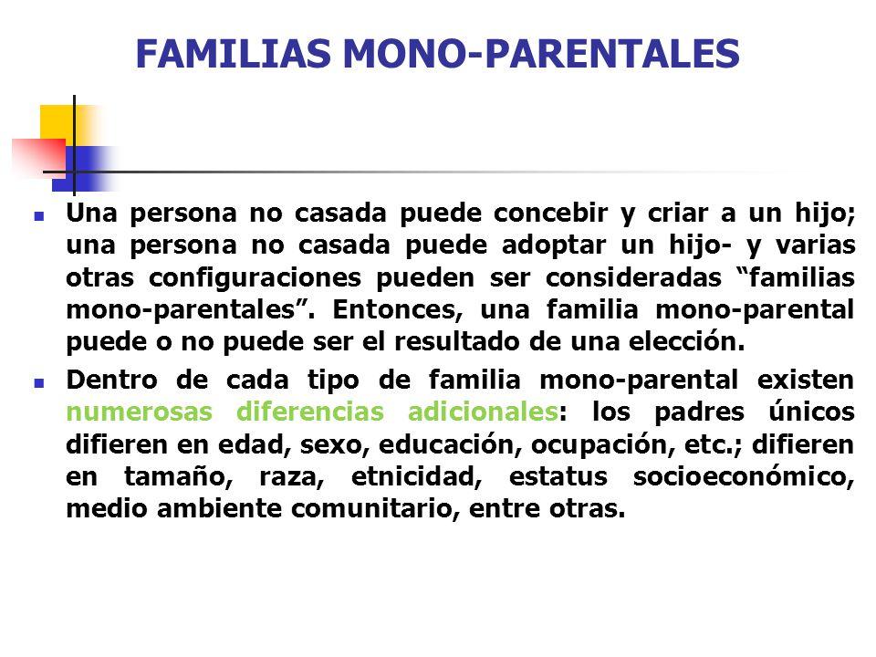 FAMILIAS MONO-PARENTALES