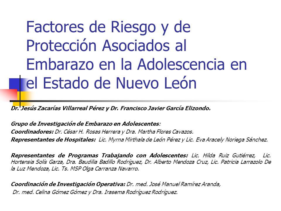 Factores de Riesgo y de Protección Asociados al Embarazo en la Adolescencia en el Estado de Nuevo León