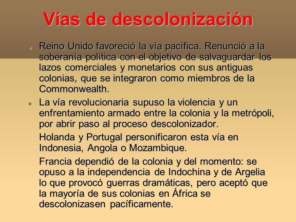 Vías de descolonización