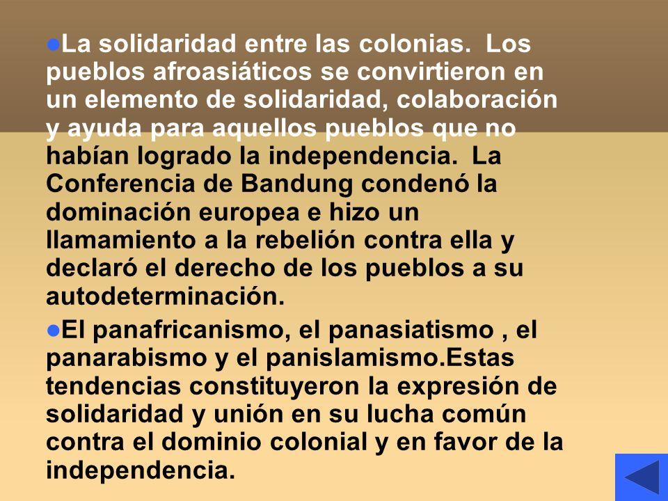 La solidaridad entre las colonias