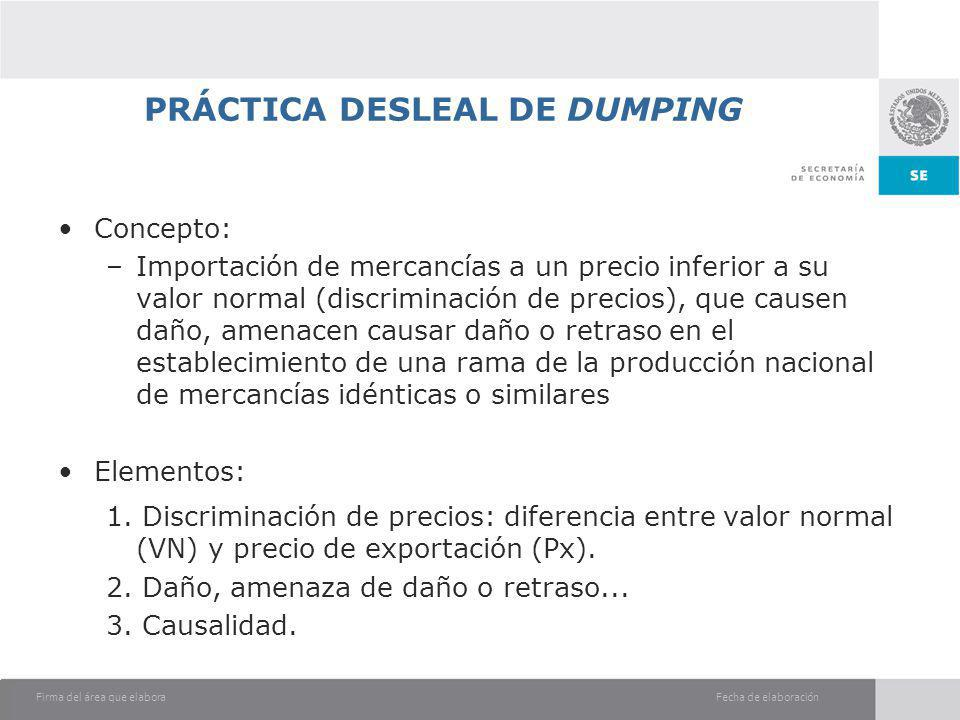 PRÁCTICA DESLEAL DE DUMPING