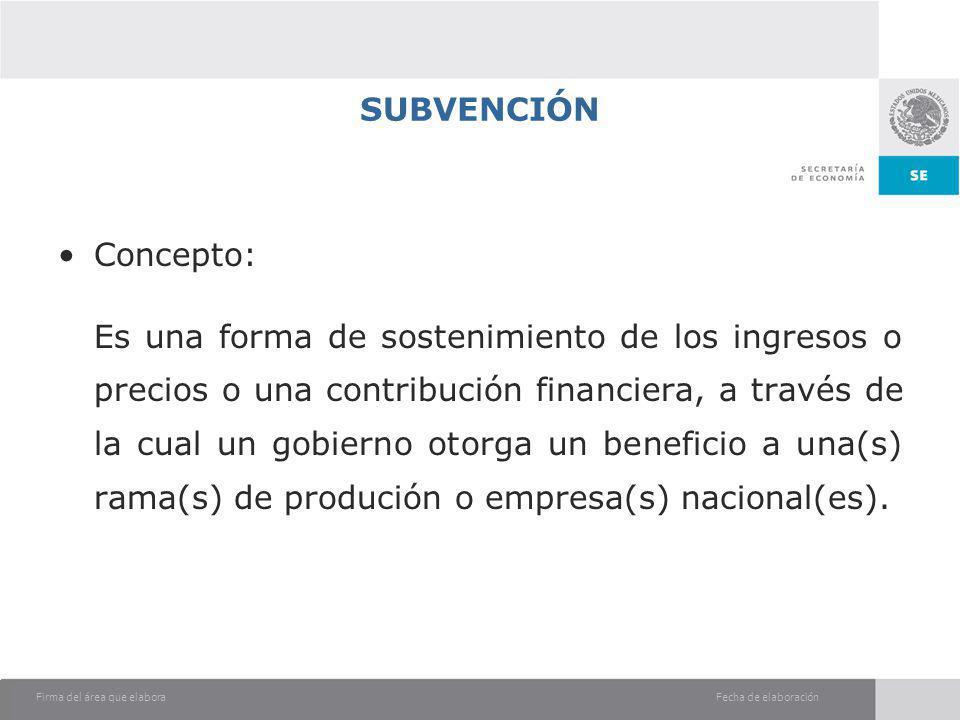 SUBVENCIÓN Concepto: