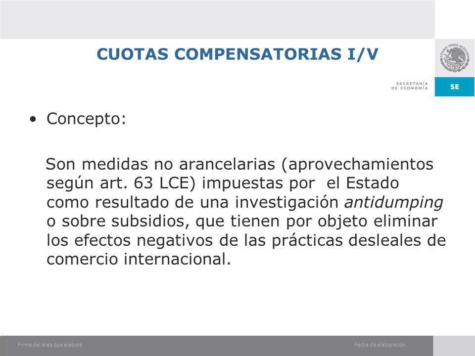 CUOTAS COMPENSATORIAS I/V