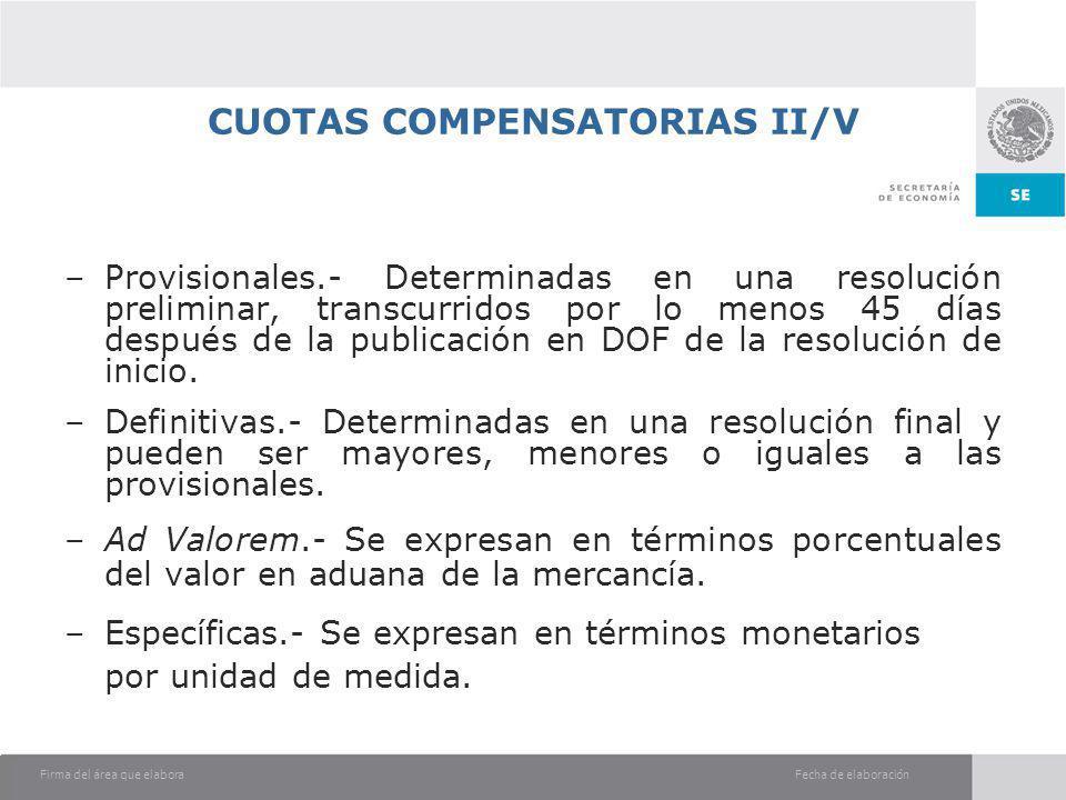 CUOTAS COMPENSATORIAS II/V