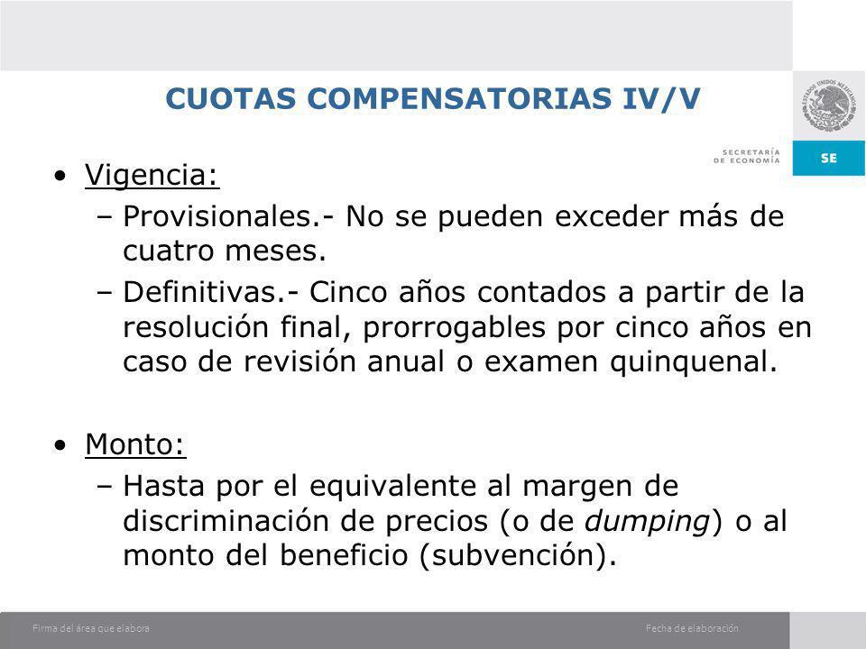 CUOTAS COMPENSATORIAS IV/V