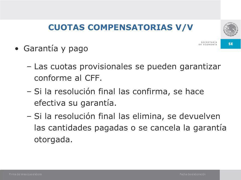 CUOTAS COMPENSATORIAS V/V