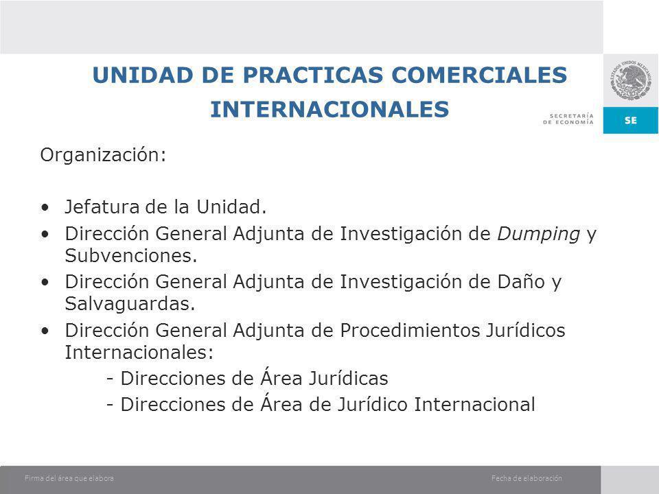 UNIDAD DE PRACTICAS COMERCIALES INTERNACIONALES