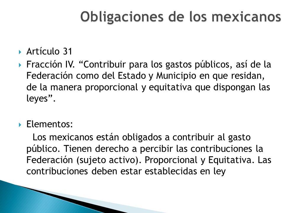 Obligaciones de los mexicanos