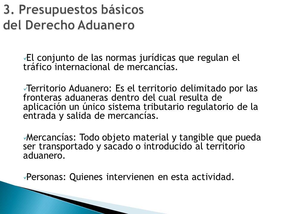 3. Presupuestos básicos del Derecho Aduanero