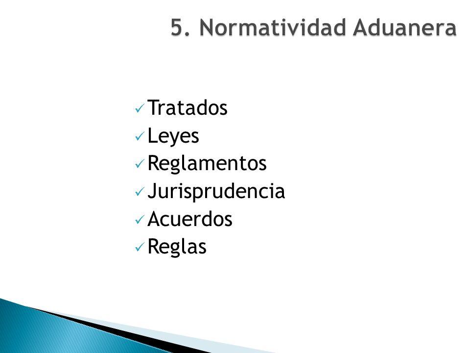 5. Normatividad Aduanera