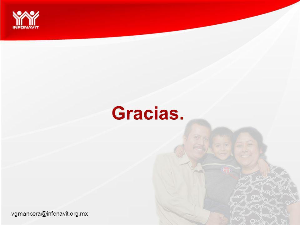Gracias. vgmancera@infonavit.org.mx 17