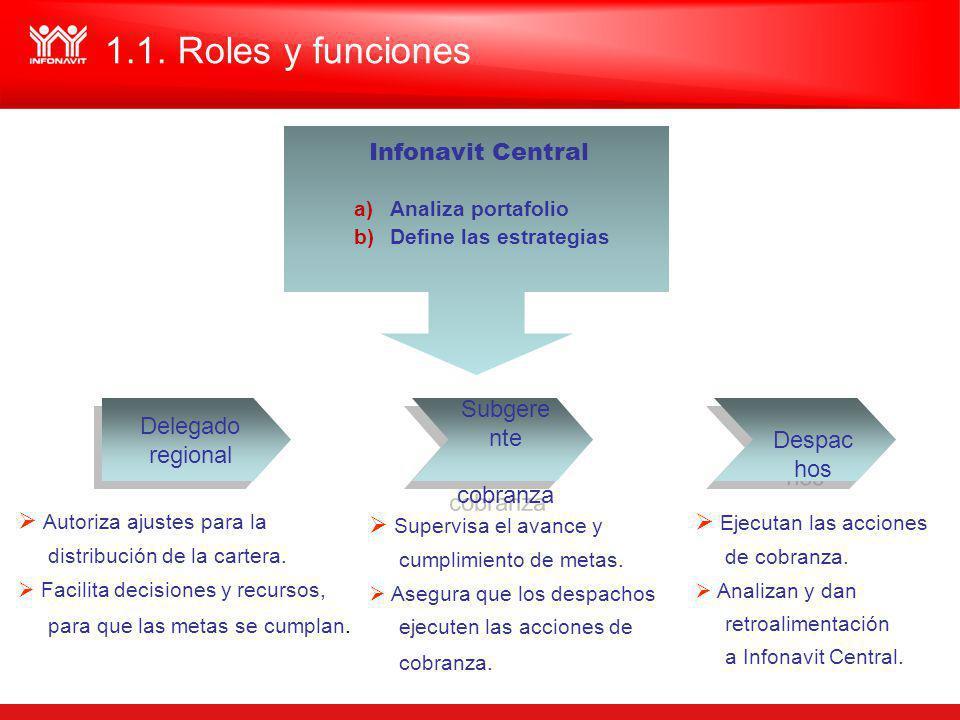 1.1. Roles y funciones Infonavit Central Despachos Delegado regional