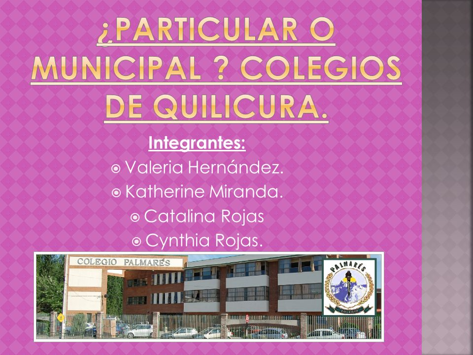 ¿PARTICULAR O MUNICIPAL Colegios de quilicura.