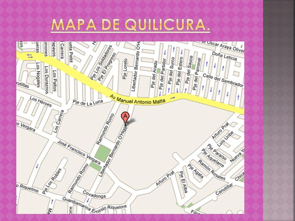 MAPA DE QUILICURA.