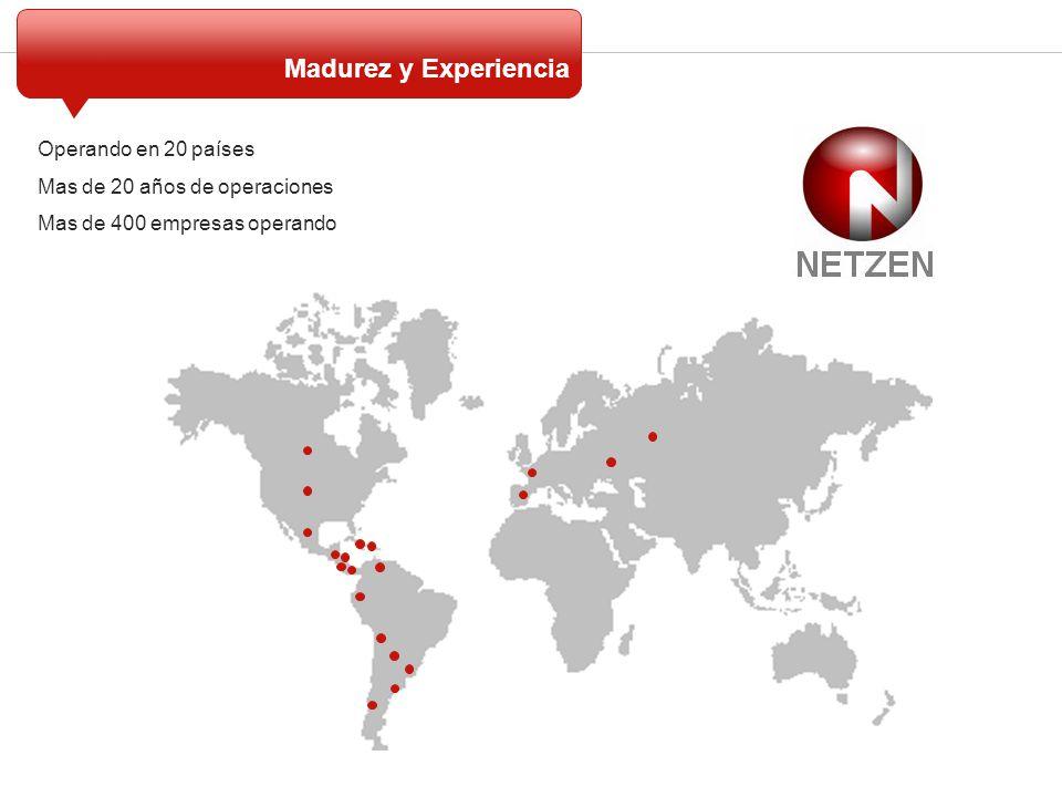 Madurez y Experiencia Operando en 20 países