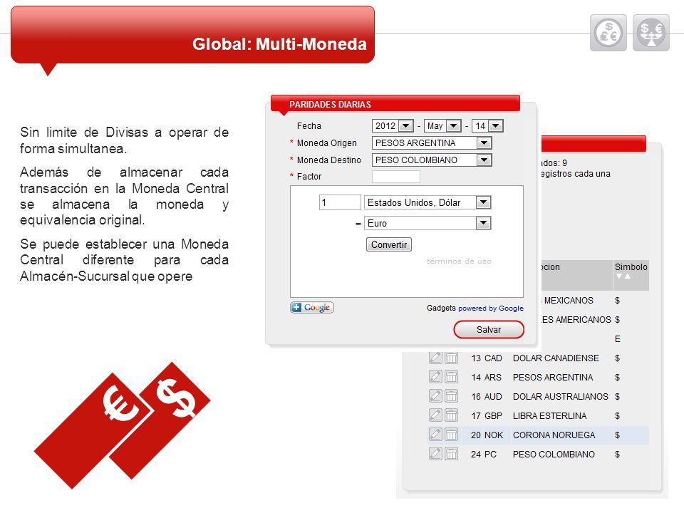 $ € Global: Multi-Moneda