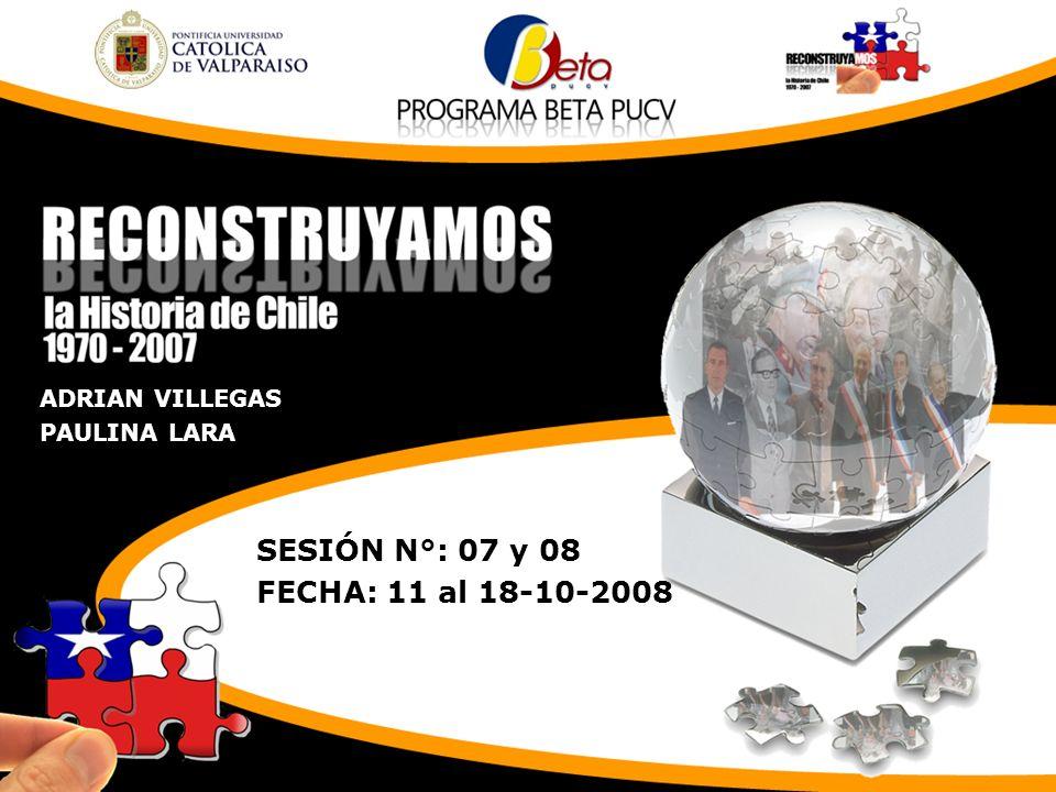 SESIÓN N°: 07 y 08 FECHA: 11 al 18-10-2008 ADRIAN VILLEGAS