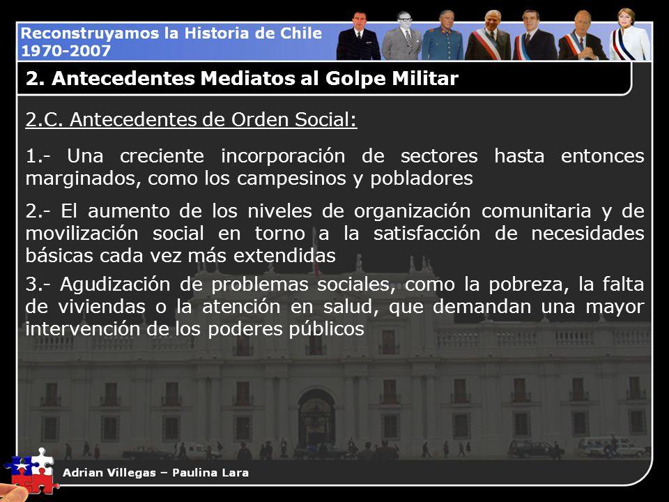 2. Antecedentes Mediatos al Golpe Militar