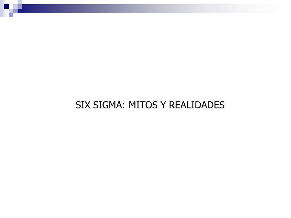 SIX SIGMA: MITOS Y REALIDADES