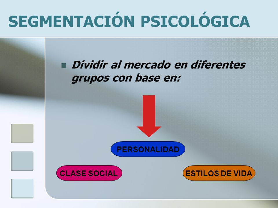 SEGMENTACIÓN PSICOLÓGICA