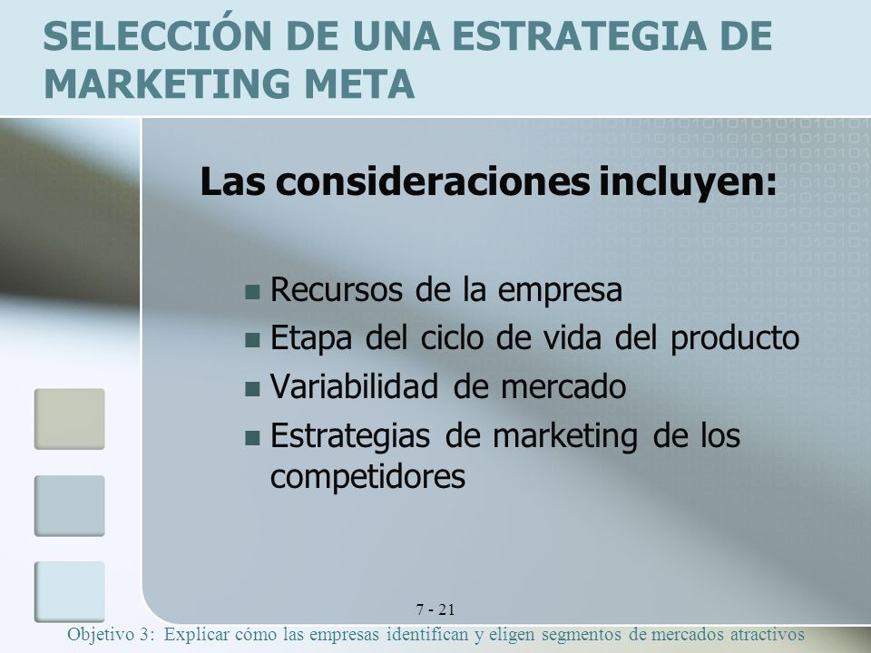 Selección de una estrategia de marketing meta