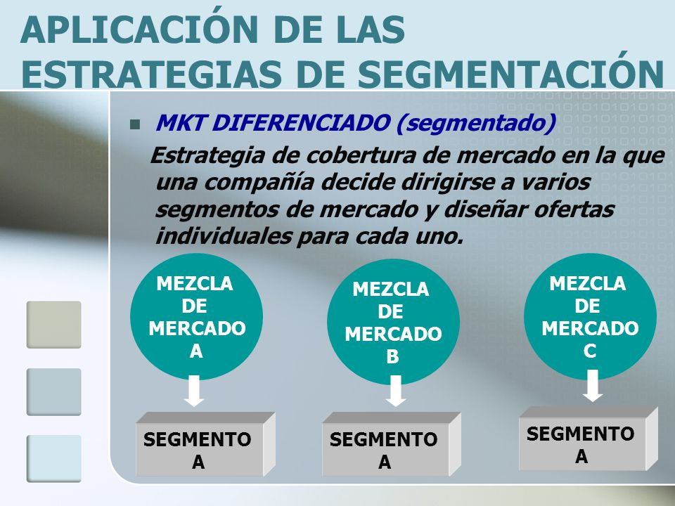 APLICACIÓN DE LAS ESTRATEGIAS DE SEGMENTACIÓN