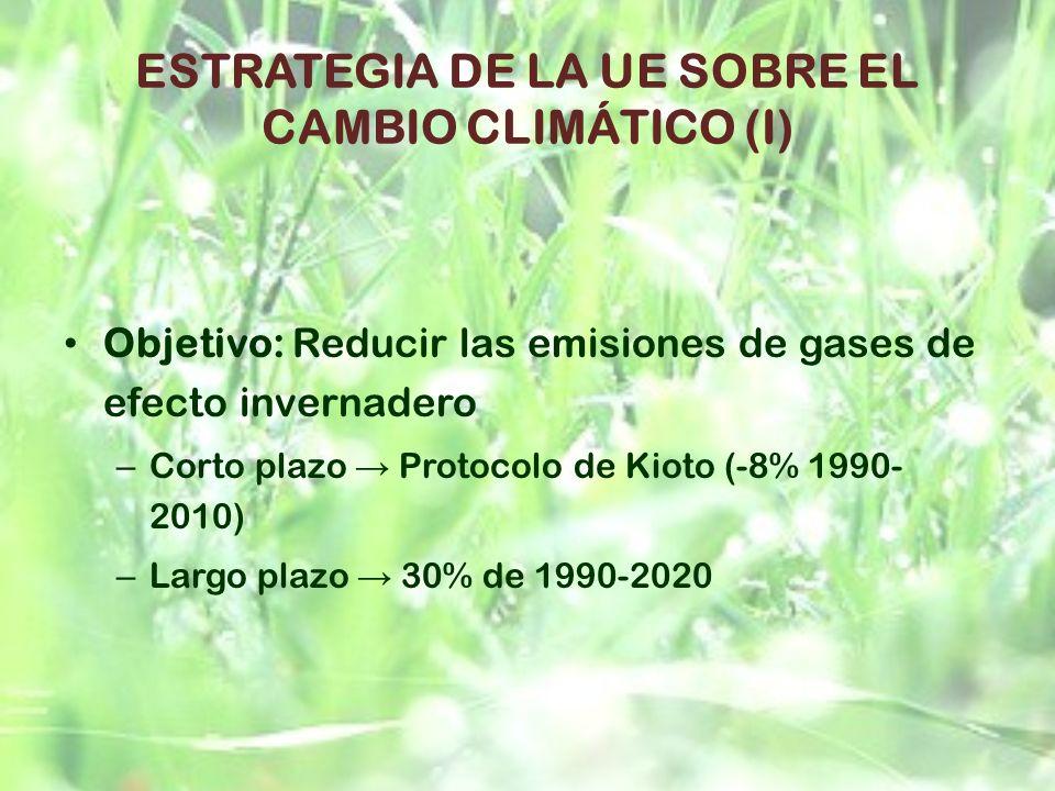 ESTRATEGIA DE LA UE SOBRE EL CAMBIO CLIMÁTICO (I)