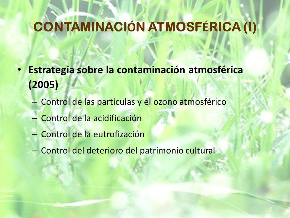 CONTAMINACIÓN ATMOSFÉRICA (I)