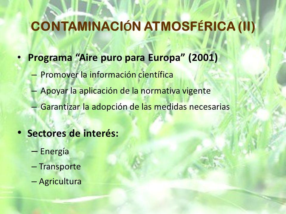 CONTAMINACIÓN ATMOSFÉRICA (II)