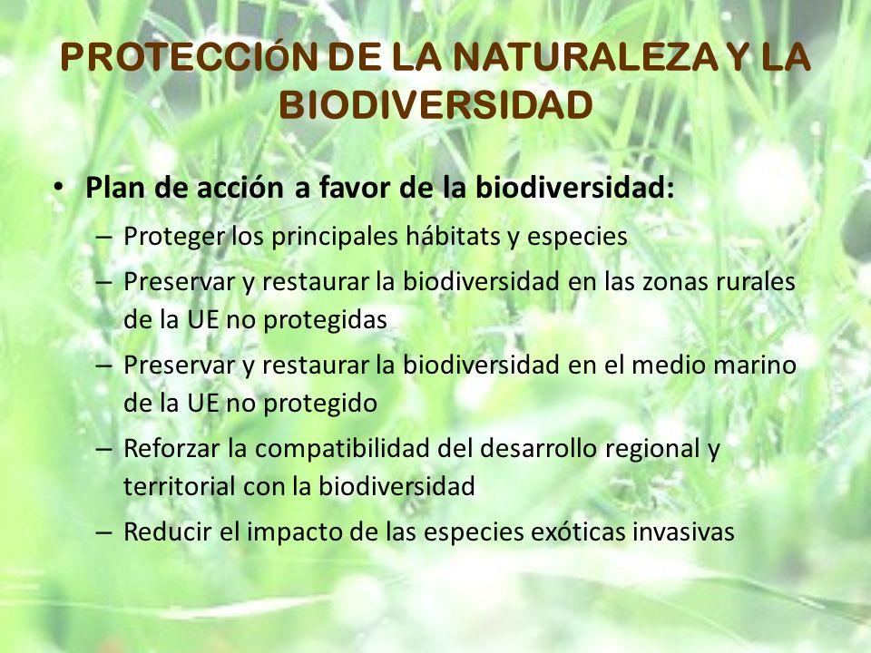 PROTECCIÓN DE LA NATURALEZA Y LA BIODIVERSIDAD