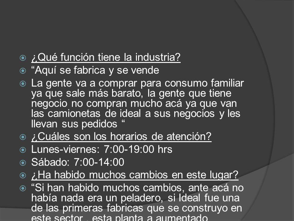 ¿Qué función tiene la industria
