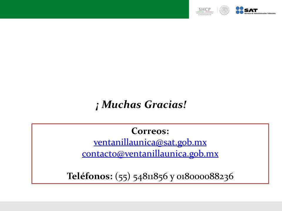 ventanillaunica@sat.gob.mx contacto@ventanillaunica.gob.mx