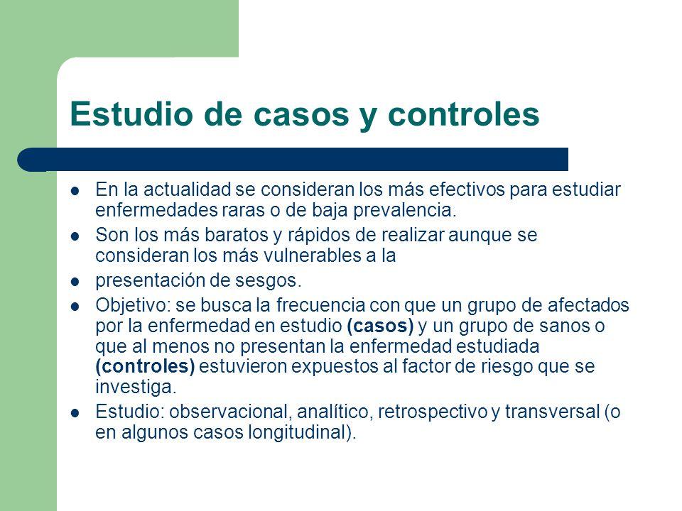 Estudio de casos y controles