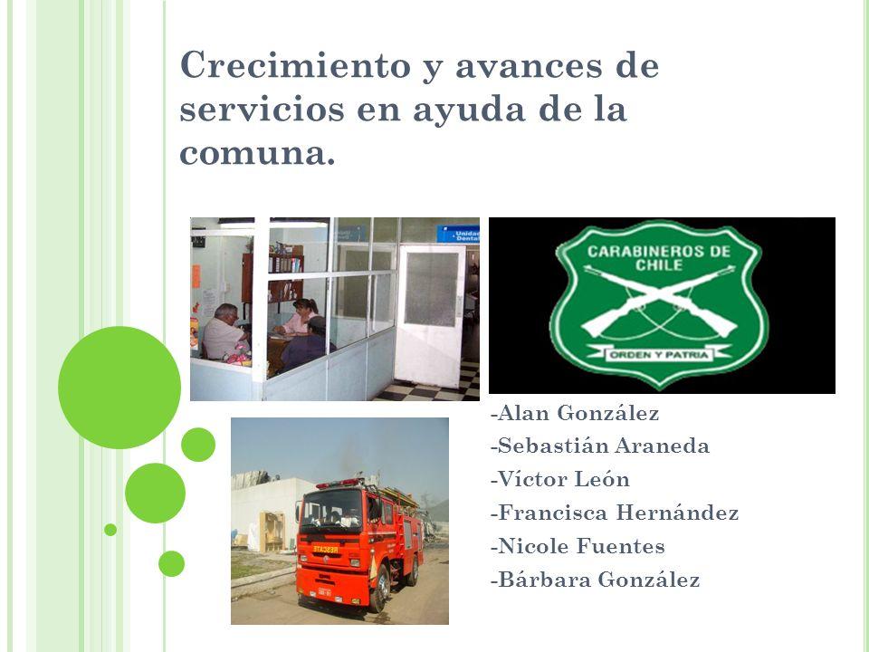 Crecimiento y avances de servicios en ayuda de la comuna.