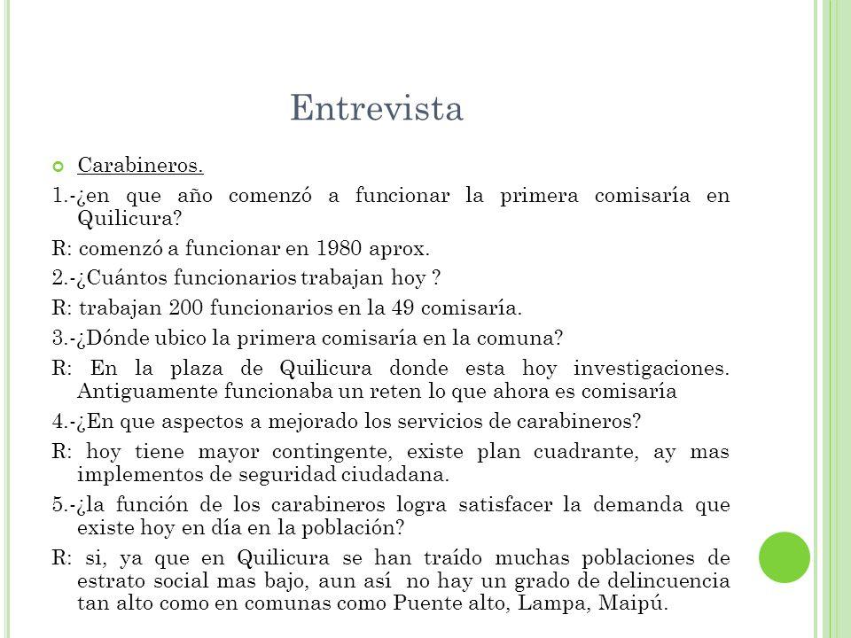 Entrevista Carabineros.