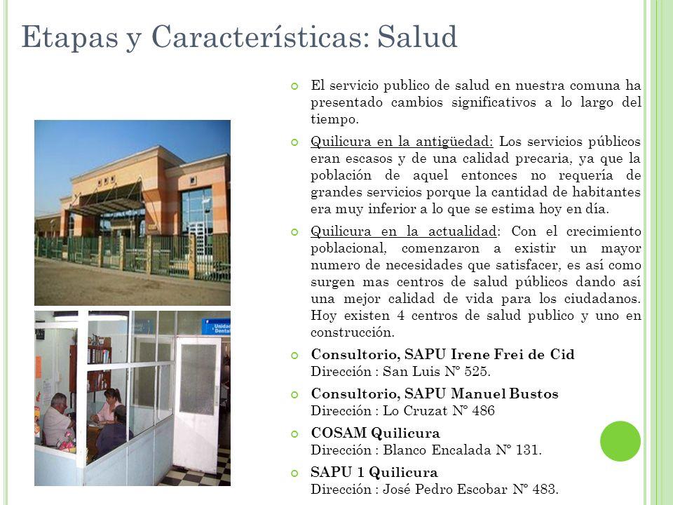 Etapas y Características: Salud