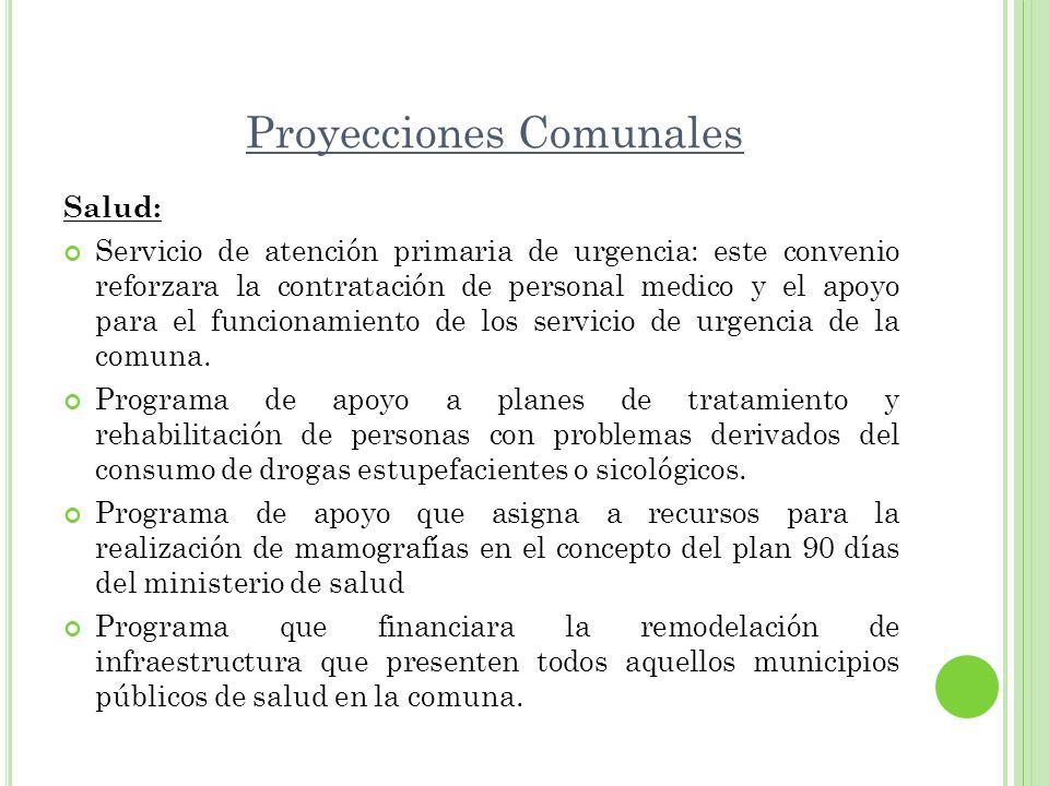 Proyecciones Comunales