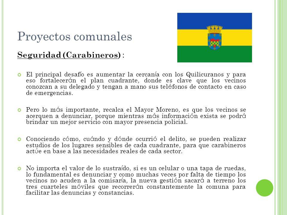 Proyectos comunales Seguridad (Carabineros) :