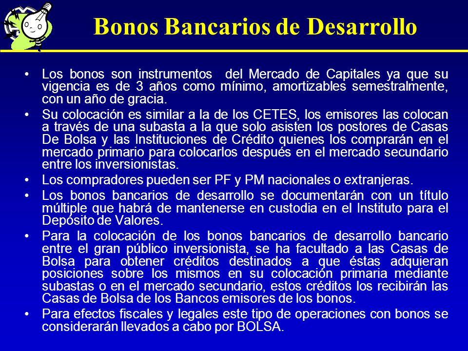 Bonos Bancarios de Desarrollo