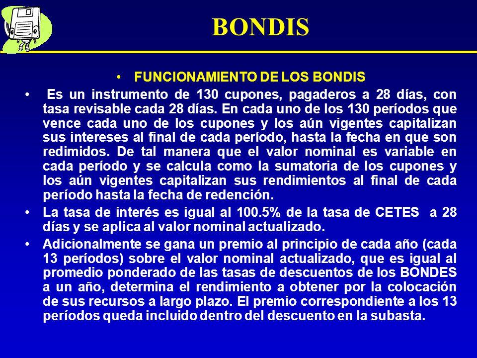 FUNCIONAMIENTO DE LOS BONDIS