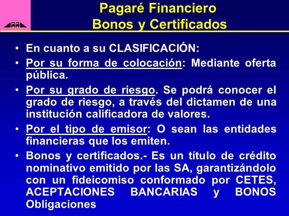 Pagaré Financiero Bonos y Certificados