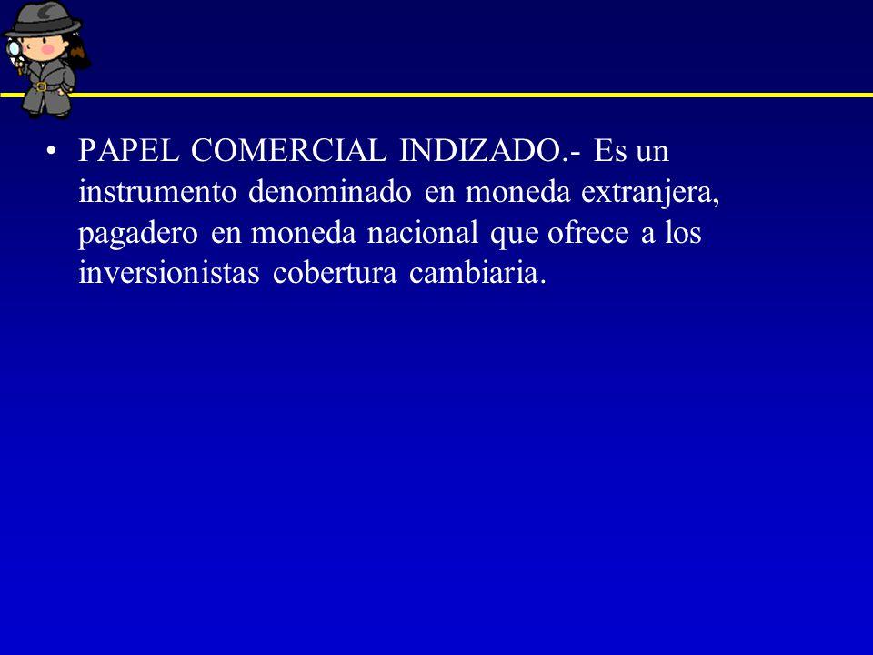 PAPEL COMERCIAL INDIZADO