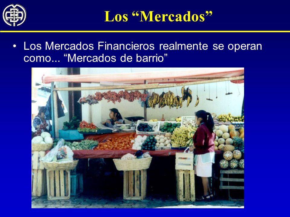 Los Mercados Los Mercados Financieros realmente se operan como... Mercados de barrio