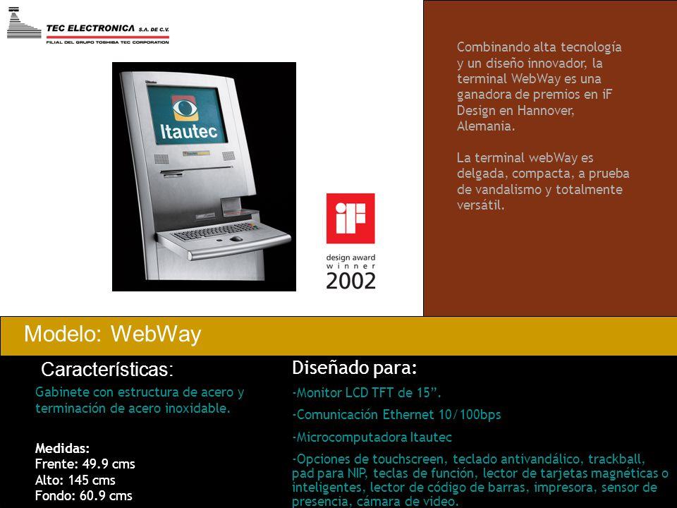 Modelo: WebWay Características: Diseñado para: