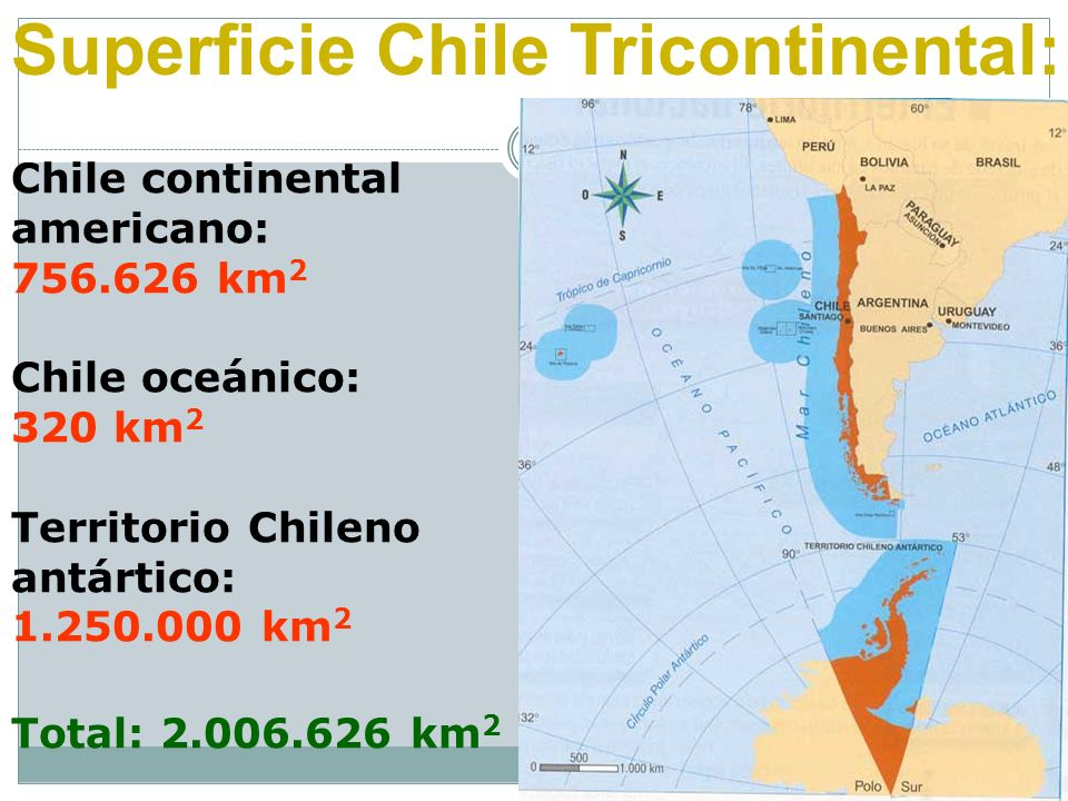 Superficie Chile Tricontinental: