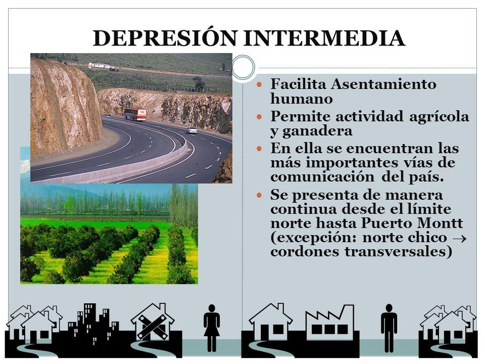  DEPRESIÓN INTERMEDIA Facilita Asentamiento humano