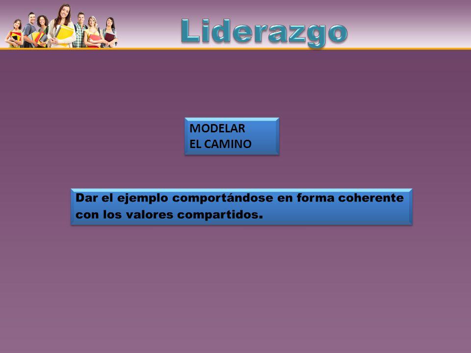 Liderazgo MODELAR EL CAMINO
